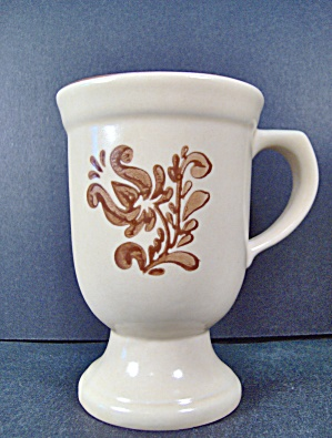 Pfaltzgraff Brown Village Footed Grandma Mug
