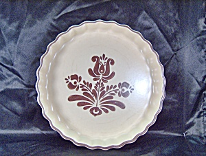 Pfaltzgraff Brown Village Quiche Pie Plate