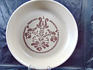 "Vintage Pfaltzgraff Brown Village 9"" Pie Plate"