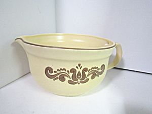 Brown Village Pfaltzgraff Batter Bowl