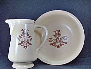 Pfaltzgraff Brown Village Pitcher & Bowl Set