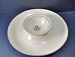 Pfaltzgraff Brown Village Chip & Dip Dish
