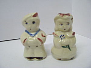 Vintage Sailor Boy & Bo Peep Salt & Pepper Set
