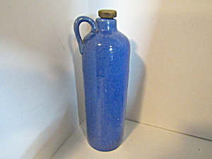 Vintage Pottery Stoneware Blue Bottle Jug