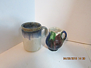 Vintage Stoneware Miniture Creamers & Cup