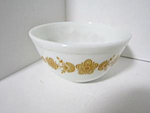 Vintage Pyrex Butterfly Gold Stacking Bowl