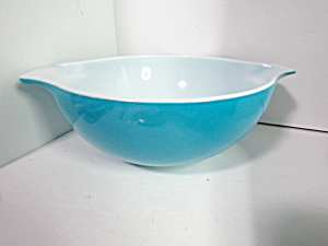 Vintage Pyrex Horizon Blue Large Mixing Bowl