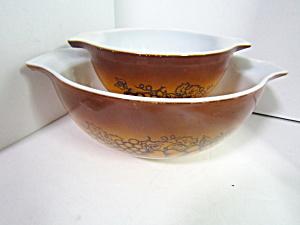 Vintage Pyrex Old Orchard Cinderella Bowl Set