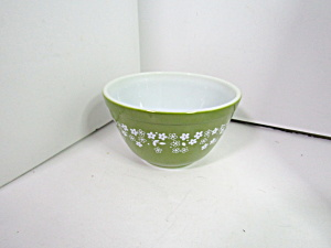 Corning Pyrex Spring Blossom Green Small Mixing Bowl