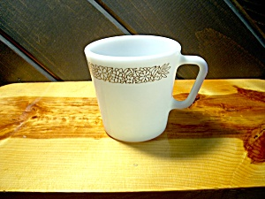 Vintage Pyrex Coffee Cup In Woodland Brown