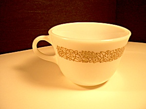 Vintage Pyrex Coffee/tea Cup Woodland Brown