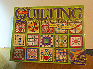 Vintage Quilting Block & Pattern A Day Calendar