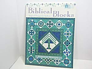 Biblical Blocks Inspired Designs For Quilters