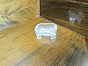 Vintage Footed Rectangular Salt Cellars