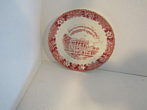 Vintage Decorative Portico Over Plymouth China Saucer