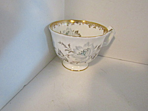 English Bone China White/blue Floral Tea Cup