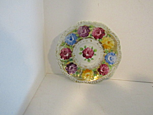 Vintage Decorative Rose Around China Saucer