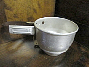 Vintage Foley Aluminum Small Hand Held Flour Sifter