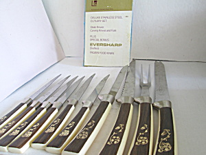 Vintage Sheffield Fleur D'or Ten Piece Knife Set