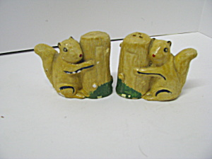 Vintage Squirrel Salt And Pepper Set