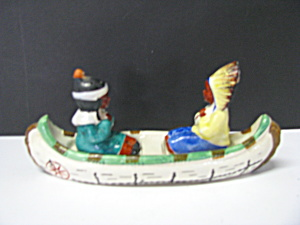 Vintage Indian Canoe Salt & Pepper Set