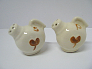 Vintage Floral Tea Pots Salt & Pepper Shakers