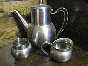 Vintage Oneida Stainless Steel Carafe Server Set