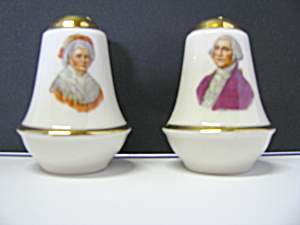 George & Martha Washington Salt & Pepper Shaker