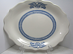 Vintage Syracuse China Americana Colonial Oval Platter