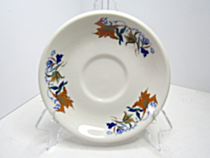 Vintage Syracuse China Blue Birds Gold Floral Saucer
