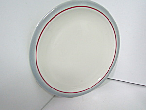 Vintage Syracuse Restaurant China Gray Rim Plates