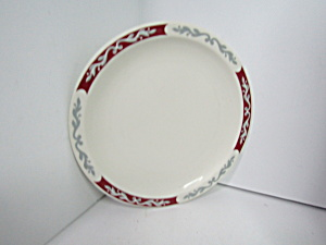 Vintage Syracuse Restaurant China Maroongray Rim Plates