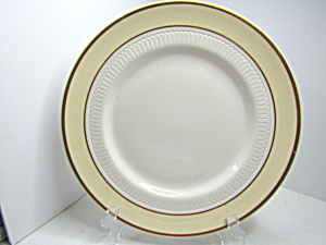 Vintage Syracuse China Pale Yellow Band Dinner Plate