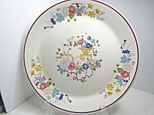 Vintage Syracuse China Oriental Floral Dinner Plate