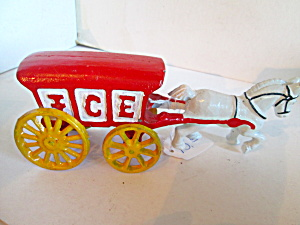 Vintage Cast Iron Pony Ice Wagon