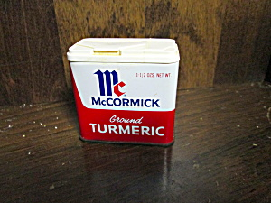 Vintage Mccormick Ground Turmeric Tin