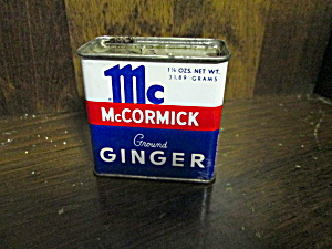 Vintage Mccormick Ground Ginger Tin