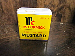 Vintage Mccormick Double Superfine Mustard Tin