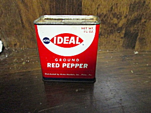 Vintage Ideal Ground Red Pepper Tin