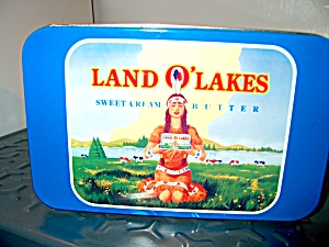 Land Of Lakes 75th Anniversary Butter Tin