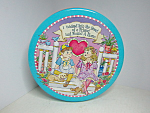 Vintage Friendship Chocolate Covered Pretzels Tin