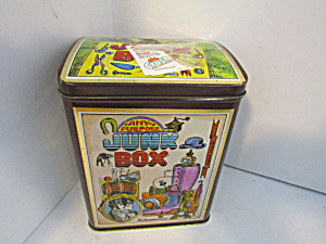 Vintage Any Purpose Junk Box Tin