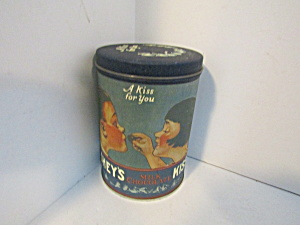 Vintage A Kiss For You Hershey's Kisses Tin