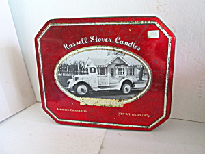 Vintage Russell Stover Bungalow Truck Collection Tin (Image1)