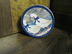 Vintage Winter Geese Six Piece Coaster Set