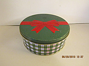 Holiday Harry London Green Round Bow Storage Tin