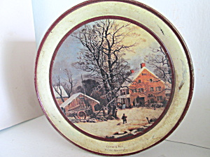 Currier & Ives Limited Edition Christmas 1991 Tin