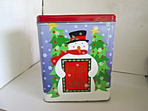 Snowman Tin Canister Greetings Of The Season (Image1)