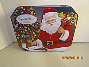 Vintage Russell Stover Santa Hinged Tin