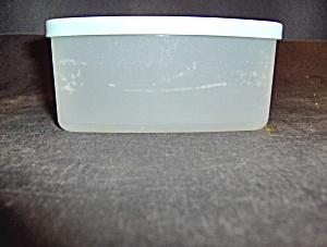 Vintage Tupperware Square Container With Green Lid